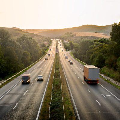 freeway at dusk