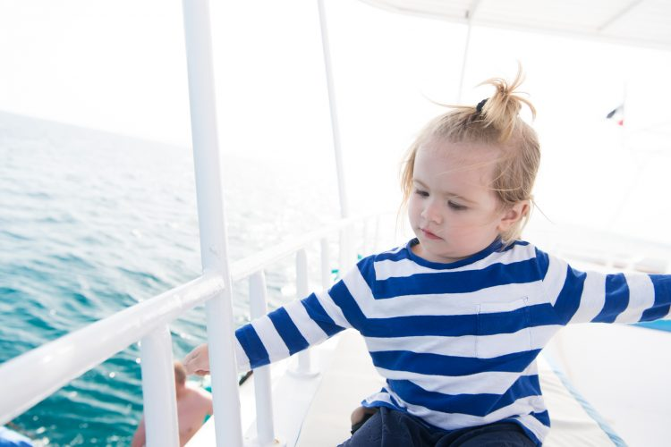 toddler on a ship