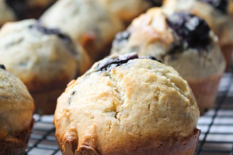 easy blueberry muffings | onesmithday.com